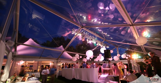50x60 Clear Dance Tent, Century Tent for Dining
